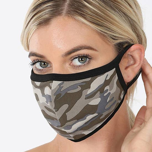 Face Mask Camouflage Print