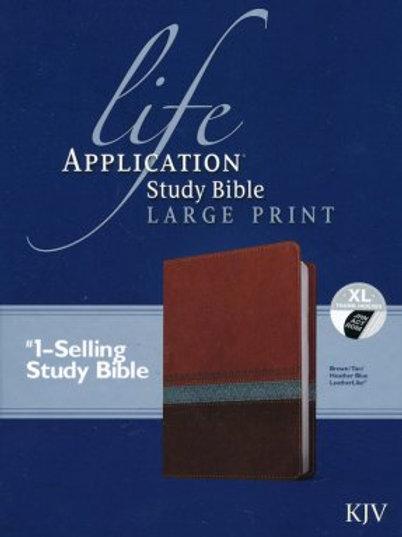 KJV L.A.S.Bible 2nd Ed.,Lg. Print Imitation Leather brown/tan/heather blue index