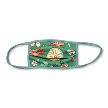 Face Mask Green Floral