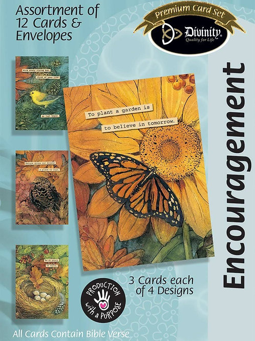 Encouragement Cards, Flowers, Box of 12