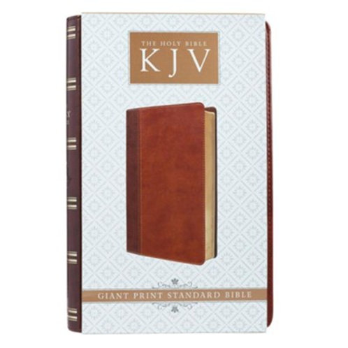 KJV Giant Print Lux-Leather 2-Tone Brown