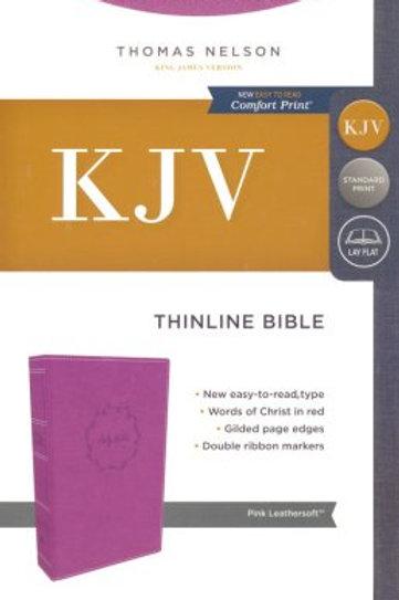KJV, Thinline Bible, Leathersoft, Pink, Comfort Print