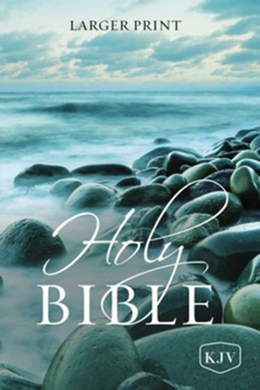KJV Holy Bible, Larger Print--softcover