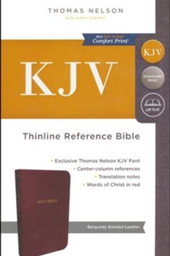 KJV Thinline Reference Bible Bonded Leather Burgundy Indexed