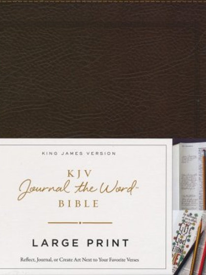 KJV Journal the Word Bible, Lg. Print, Bonded Leather Brown, Red Letter Edition