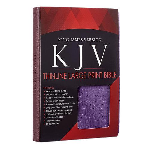 KJV Large Print Lux-Leather Brown/Purple
