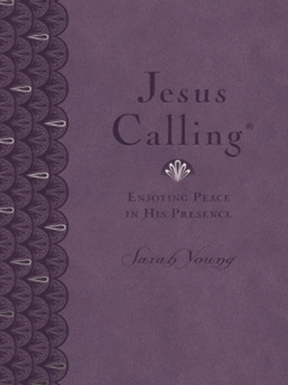 Jesus Calling Large Print Deluxe, Lavender Leathersoft