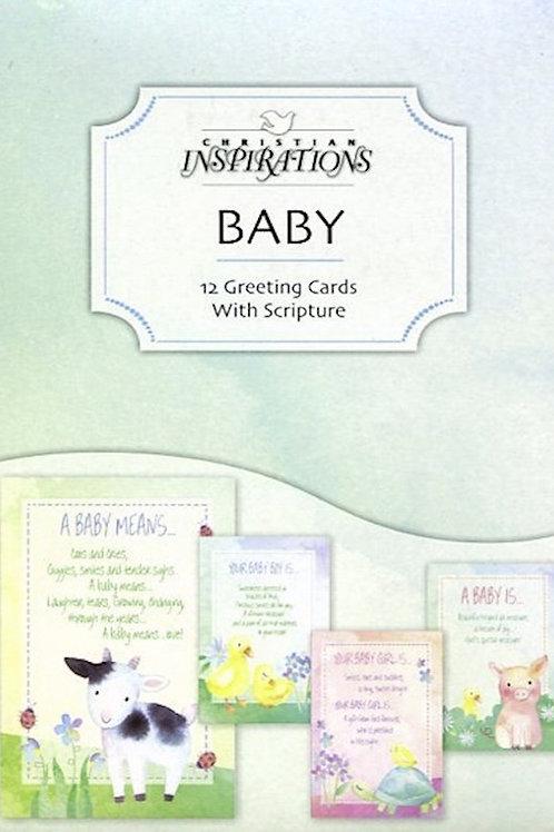 Baby Cards, KJV, Farmyard, Box of 12