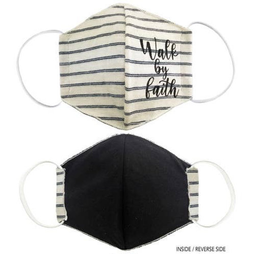 Face Mask Walk by Faith Striped White