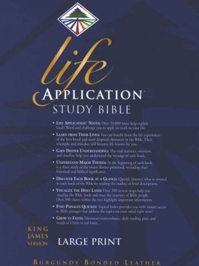 KJV Life Application Study Bible 2nd Ed., Lg. Print, Bonded Leather, Burgundy