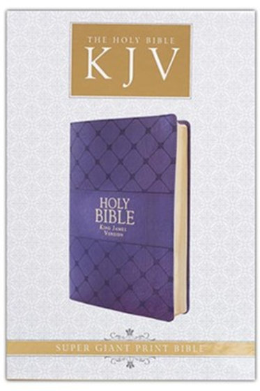 KJV Super-Giant Print Bible--lux leather, purple