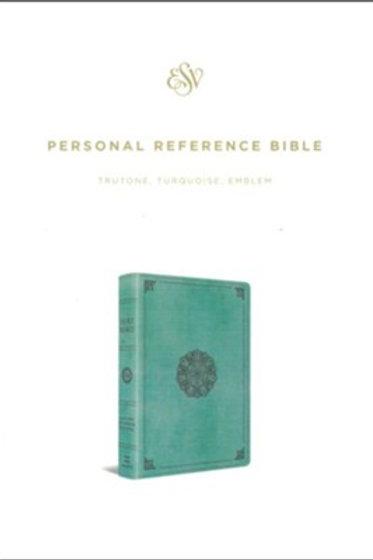 ESV Personal Ref. Bible, TruTone Imitation Leather, Turquoise w Emblem Design