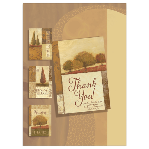 Thank You Cards, NKJV, Trees, Box of 12