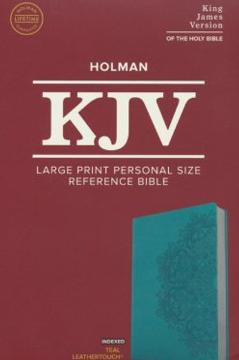 KJV Lg. Print Personal Size Reference Bible, Teal Leathertouch Imitation, Index