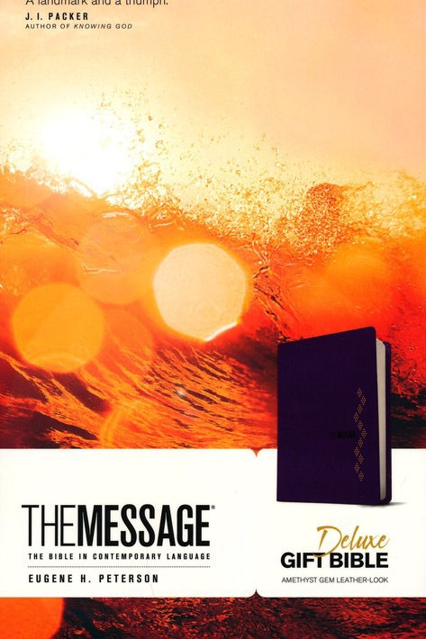 The Message Deluxe Gift Bible, Soft leather-look, amethyst gem