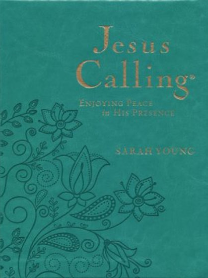 Jesus Calling, Large Print - Imitation Leather, Turquoise