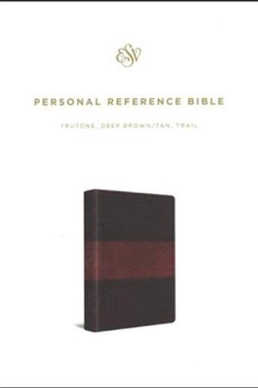 ESV Personal Reference Bible, TruTone, Deep Brown/Tan, Trail Design