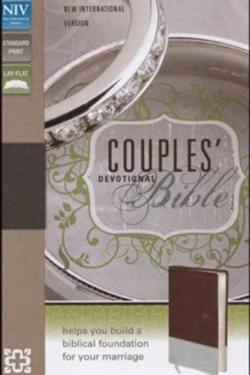 NIV Couples' Devotional Bible, Italian Duo-Tone, Chocolate/Silver