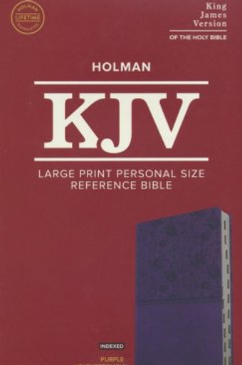 KJV Lg. Print Personal Size Ref. Bible,Purple Leathertouch Imitation,Indexed