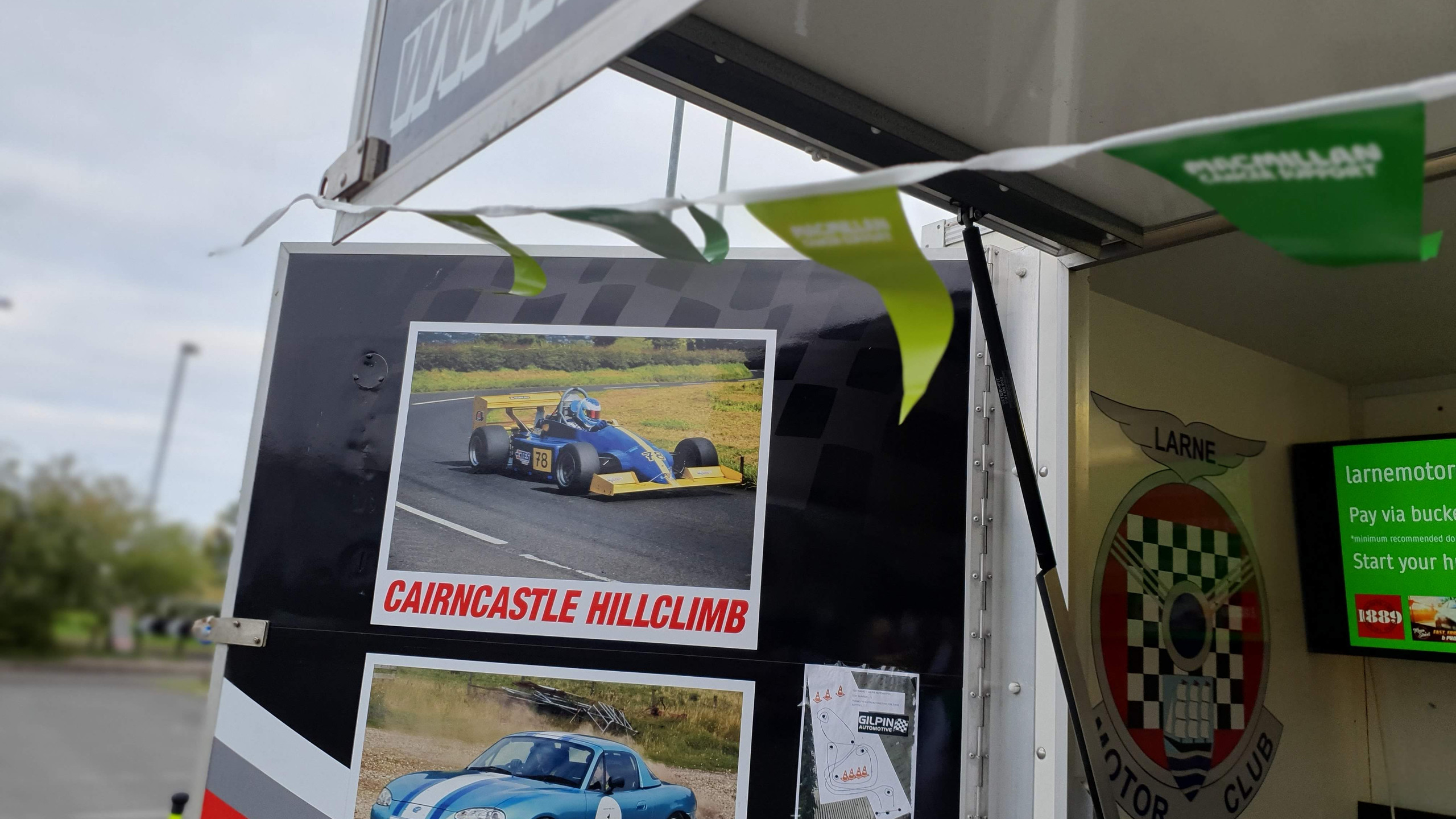 Macmillan Cancer Support provided the items to decorate our club trailer