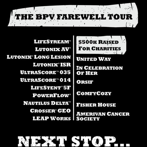 Farewell Tour T-Shirt Design - Back