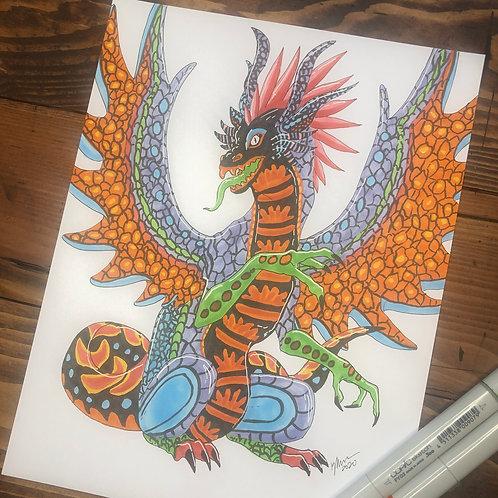 Alebreije Dragon Print
