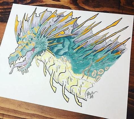 Water Dragon Print