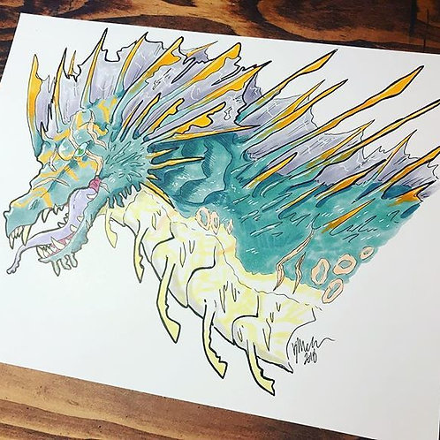 Water Dragon Print