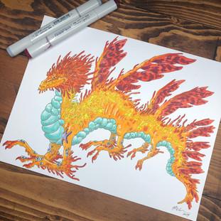 100 Dragons Challenge - Coral Dragon