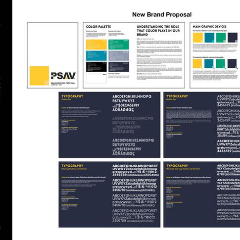 PSAV Brand Book Concept