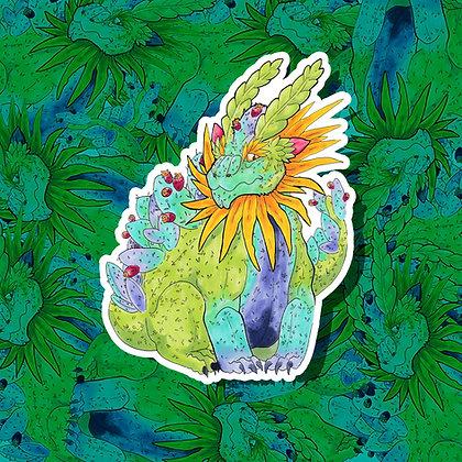 Cactus Dragon Sticker