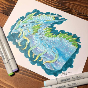 #8 Bioluminescent Squid Dragon