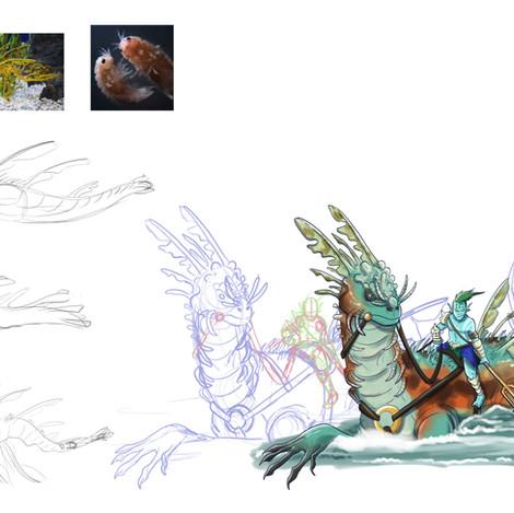 Water Dragon Mount Process