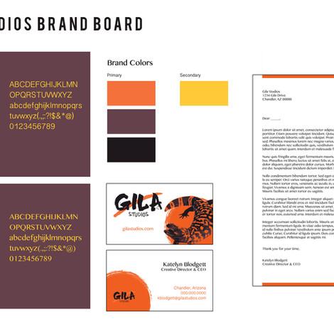 Gila Studios Brand Board
