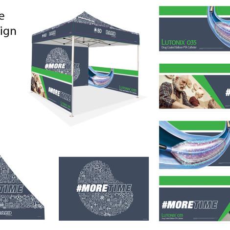 #MoreTime Tent Booth Design