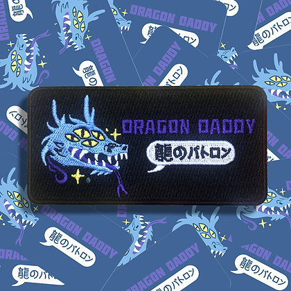 Dragon Daddy Embroidered Patch - Blue Limited Edition