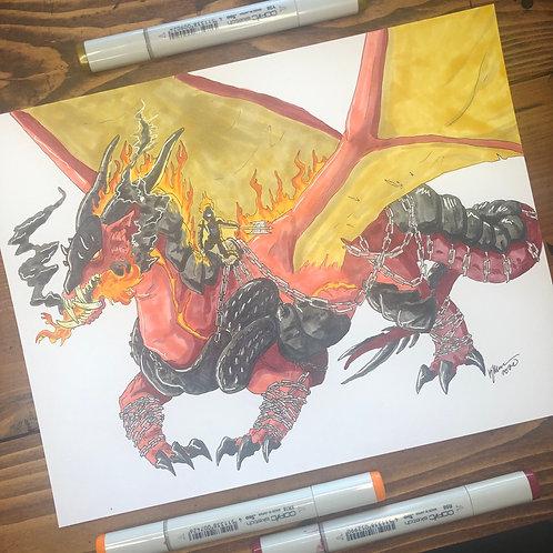 War Dragon Print