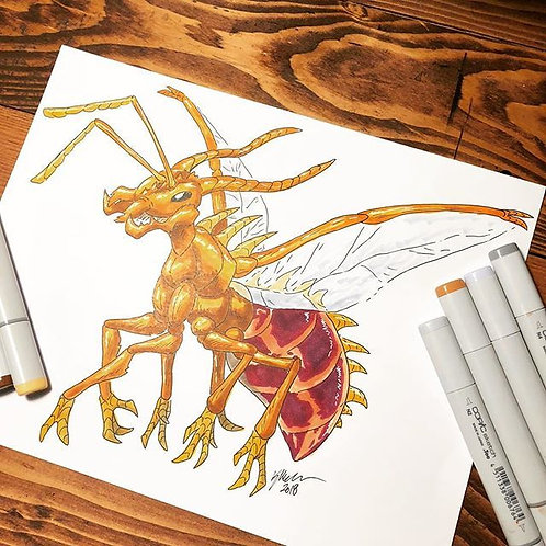 Tiny Ant Dragon Print