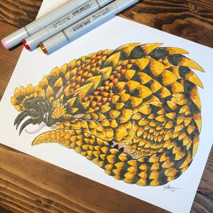 100 Dragon Challenge - Pangolin Dragon