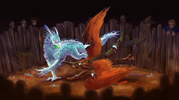 Monster Mash Battle Print
