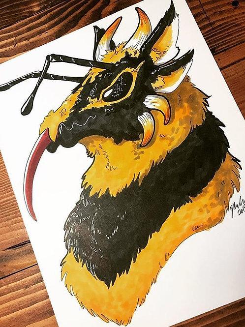 Bee Dragon Print