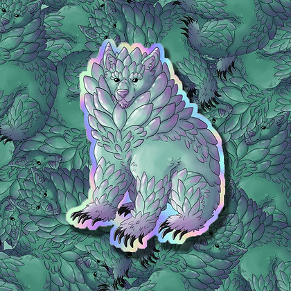 Succulent Bear Holo Sticker