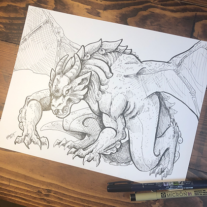Gargoyle Dragon Print