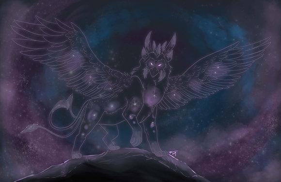 Griffin of the Stars Print