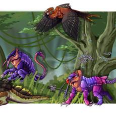 Jungle Biome All Creatures