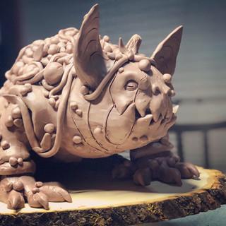 Monster Clay Sculpture