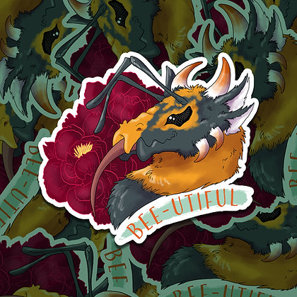 Bee Dragon Sticker