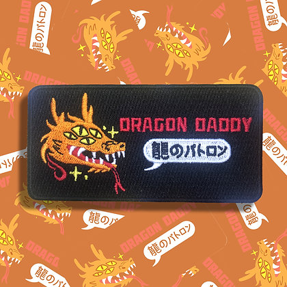 Dragon Daddy Embroidered Patch - Orange