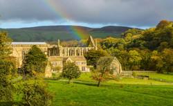 Rainbow over Fountains Abbey