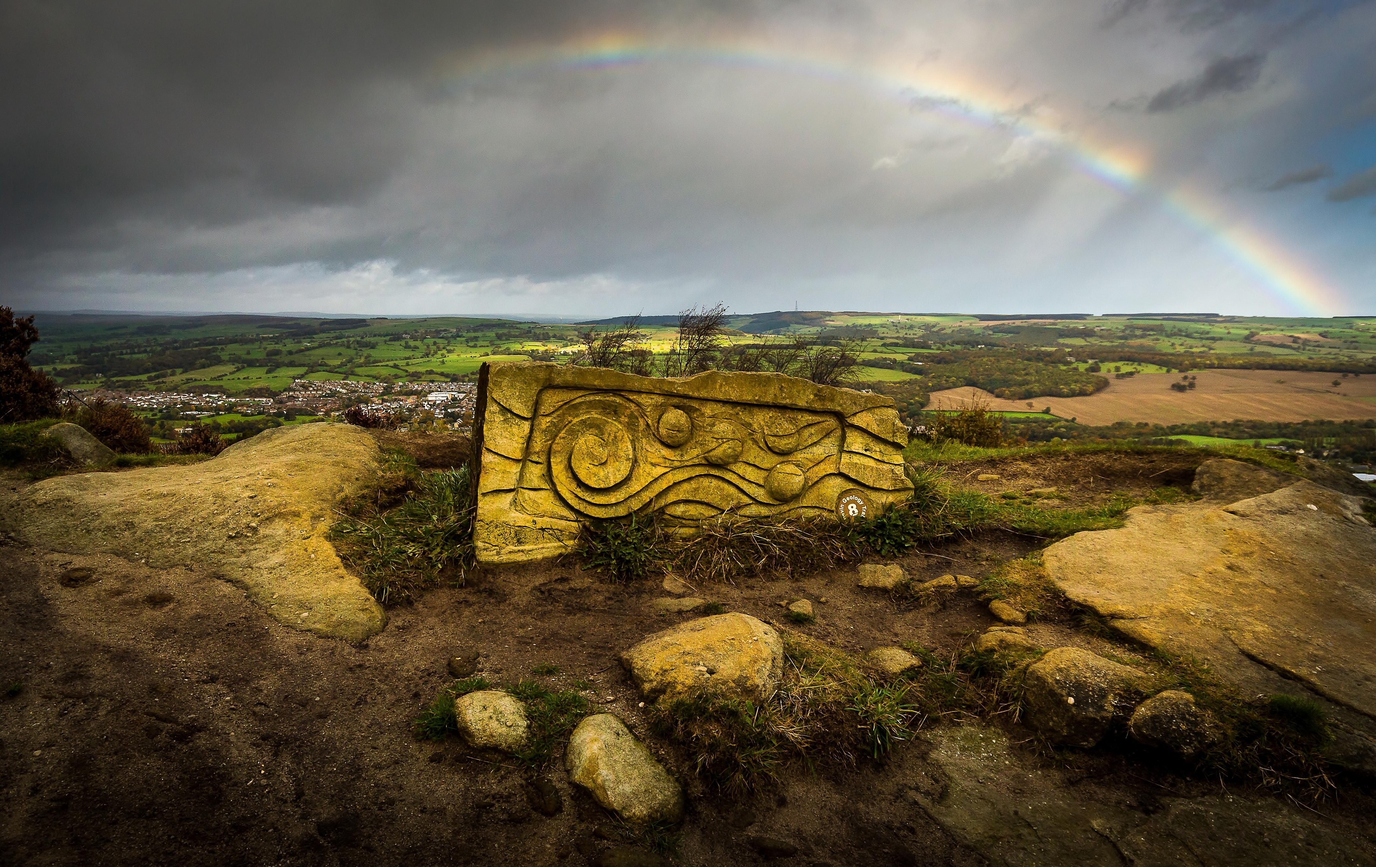 Rainbow over Otley Chevin